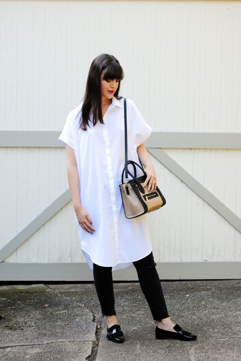 Fall Transitional: The White Shirt Dress