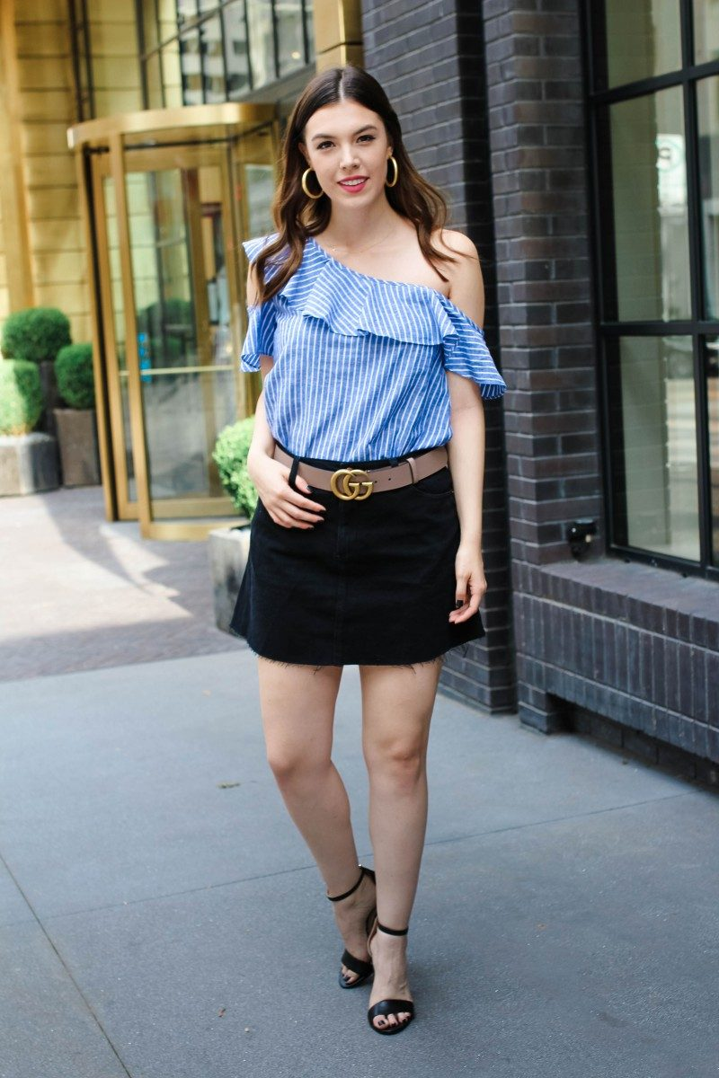 Shop from My Blog and LIKEtoKNOW.it/Never Without Lipstick/madewell, madewell outfit, gucci marmont, gucci belt, gucci belt outfit, gucci belt pink, jean skirt, jean skirt outfit summer, summer outfits, summer outfits casual