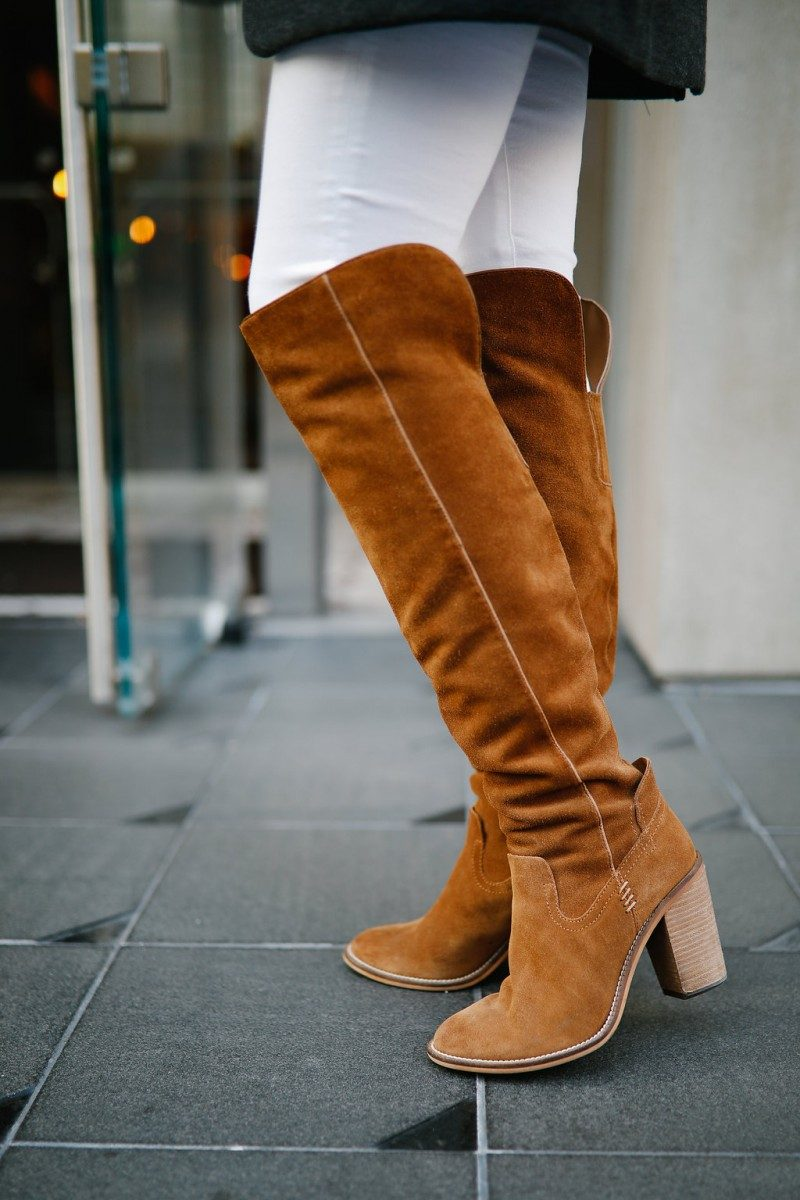 Style blogger Ashley of Never Without Lipstick shares her 10 favorite pairs of boots | over the knee boots, boots fall, boots outfit, sam edelman boots, marc fisher booties, boots fall 2017, booties 2017 outfits, casual outfits, fall outfits