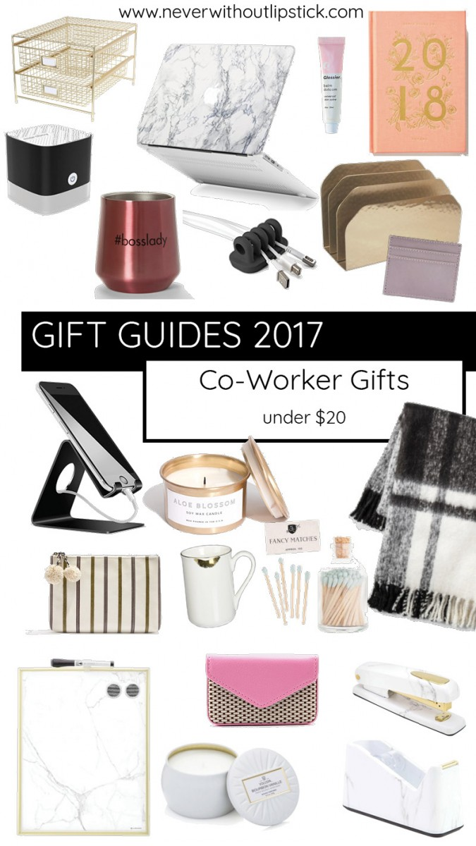 20 cute, creative co-worker gift ideas under $20 | gift guide, coworker gifts, office gift ideas, coworker gift ideas, coworker christmas gifts, coworker christmas gifts inexpensive, coworker christmas gifts female, | 20 Small Gift Ideas for Co-Workers featured by top Dallas lifestyle blog Never Without Lipstick