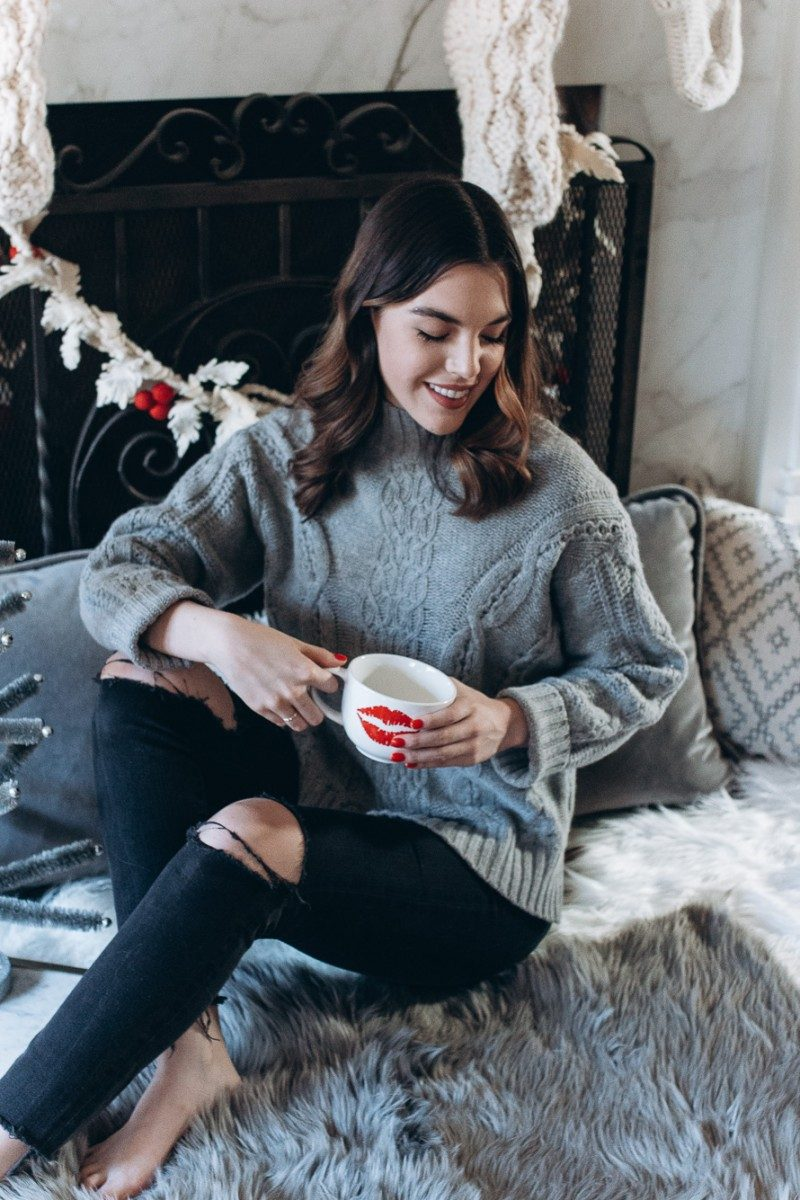 Lifestyle blogger Ashley of Never Without Lipstick shares her favorite wassail recipe for the holidays | wassail recipe easy, wassail recipe traditional, wassail recipe traditional, fireplace picture, holiday drinks, holiday punch, hot holiday drinks - Christmas Wassail Recipe featured by top Dallas lifestyle blog, Never Without Lipstick