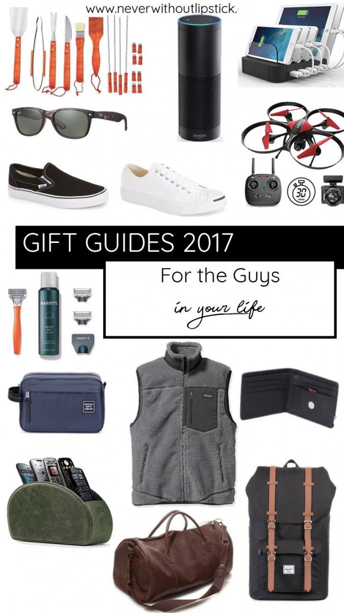 Ashley of the style blog Never Without Lipstick shares ideas for gifts for him | gifts for him christmas, gifts for boyfriends, gift guides 2017, gifts for him christmas boyfriends, gifts for brothers, gifts for dad christmas