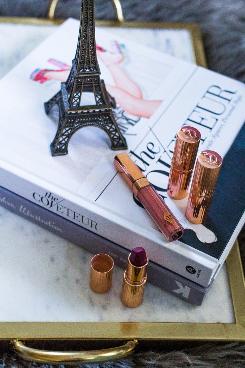 Style blogger Never Without lipstick shares her top 5 cruelty free lipstick brands | cruelty free beauty, cruelty free brands, cruelty free lipstick, lipstick flatlay, glo skin beauty, charlotte tilbury lipstick, stila liquid lipstick - My 5 Favorite Cruelty Free Lipstick Brands by popular Dallas style blogger Never Without Lipstick