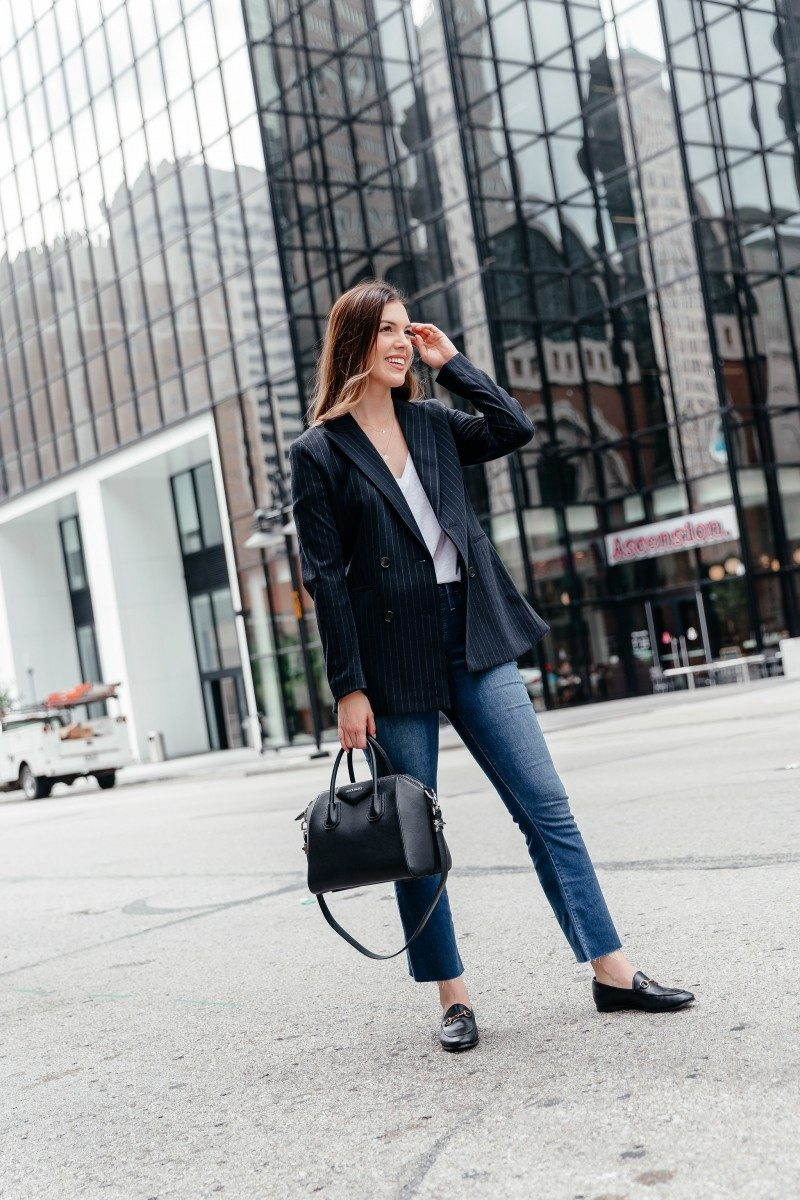 XXX | fall work outfits, casual fall work outfit, fall work outfits jeans, trendy fall work outfits, fall outfit idea, fall outfit inspo, givenchy antigona | | 5 Easy Fall Work Outfits featured by popular Dallas fashion blogger, Never Without Lipstick