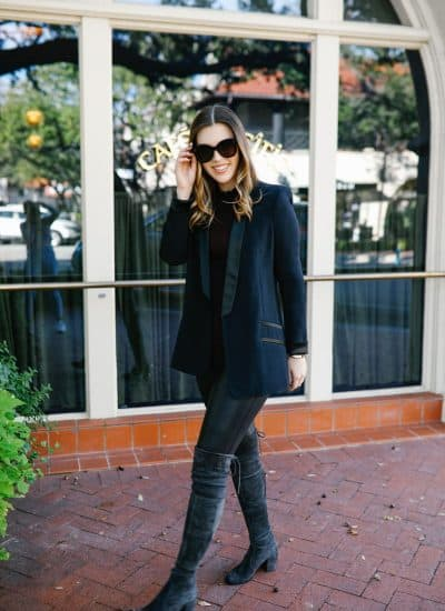 A Chic Way to Style Spanx Faux Leather Leggings