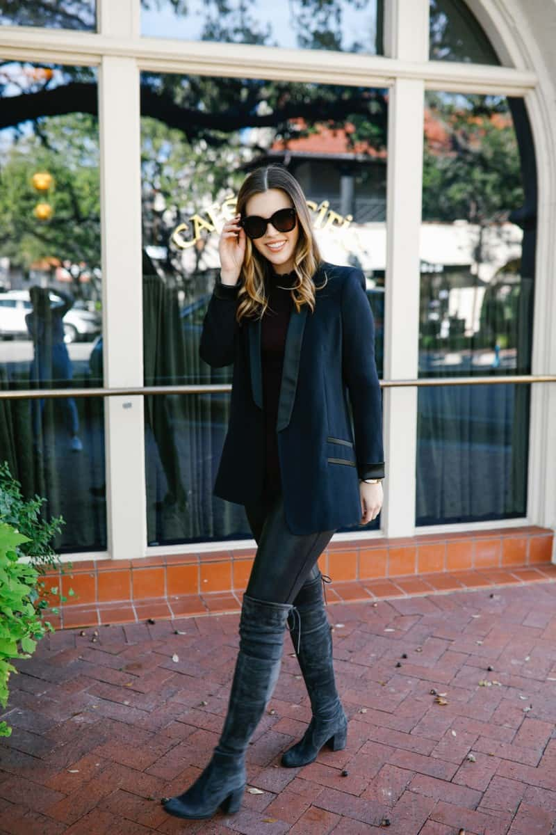 Top Dallas Fashion blog, Never Without LIpstick is sharing all the insane steals and deals with these Cyber Week Fashion Deals Online she features | spanx faux leather leggings, celine sunglasses, faux leather leggings outfit, chic winter outfit, chic fall outfit | The Best Cyber Week Deals: 15 Outfits on Sale featured by top Dallas fashion blog, Never Without Lipstick