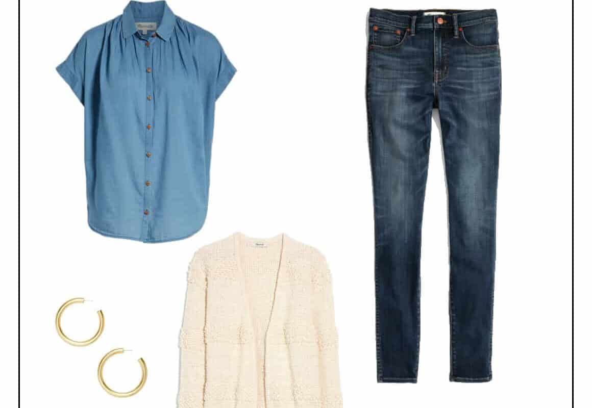 easy spring work outfit, casual spring work outfit, spring work outfit jeans, mom jeans outfit, womens fashion 2019, minimalist style spring