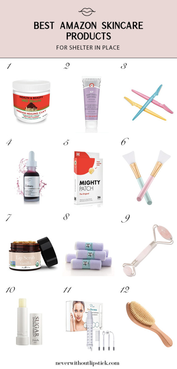 12 Best Skin Care Products on Amazon When you're At Home featured by top Dallas beauty blog, Never Without Lipstick