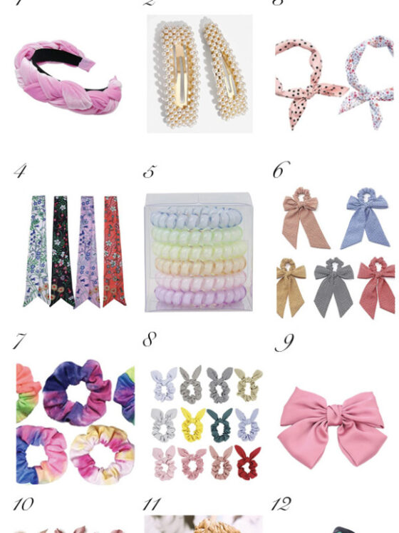Amazon Hair Accessories for Spring featured by top Dallas fashion blog, Never Without Lipstick